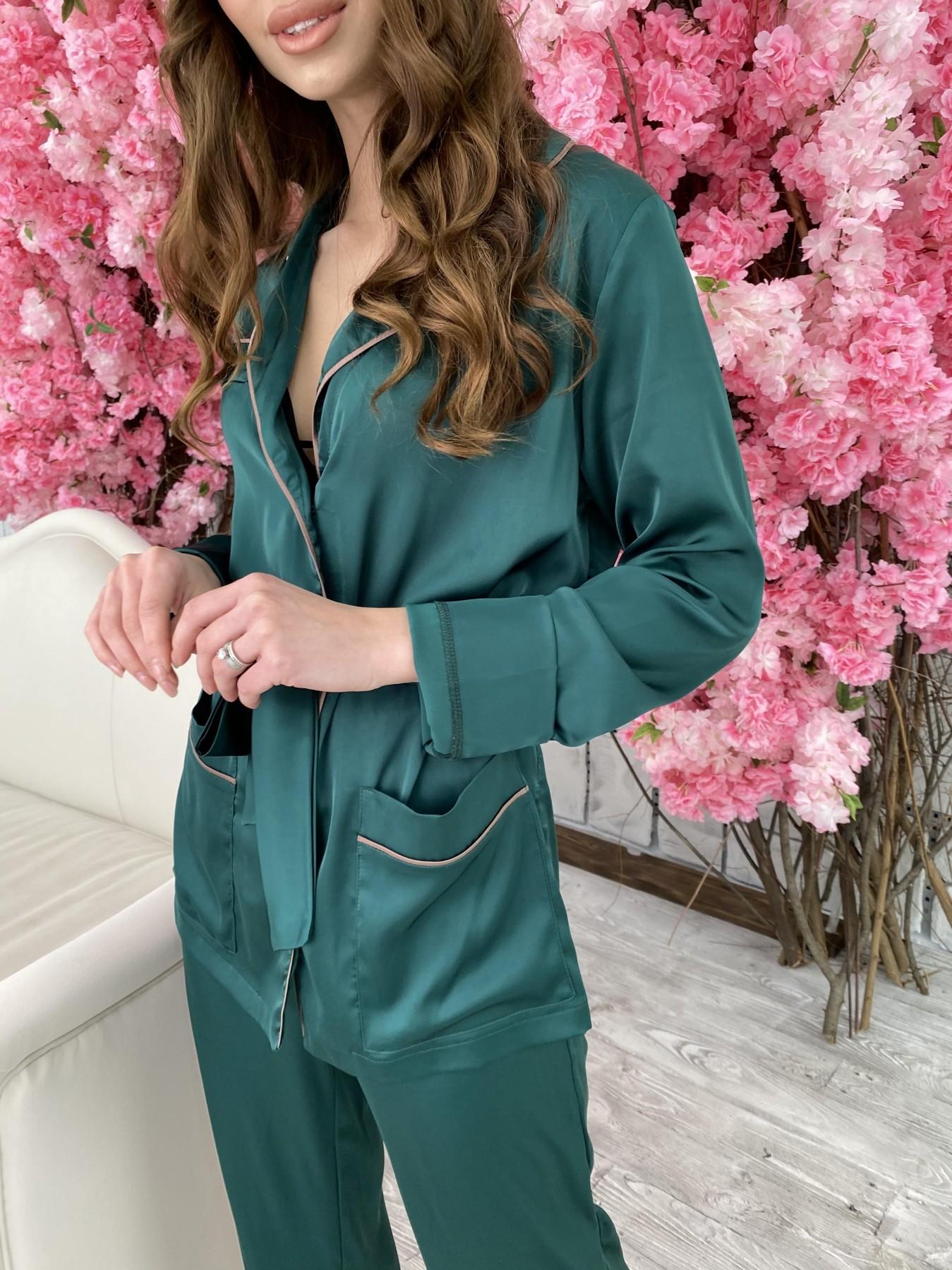 Шайн костюм из шелка  10778 АРТ. 47212 Цвет: Темно зеленый - фото 7, интернет магазин tm-modus.ru