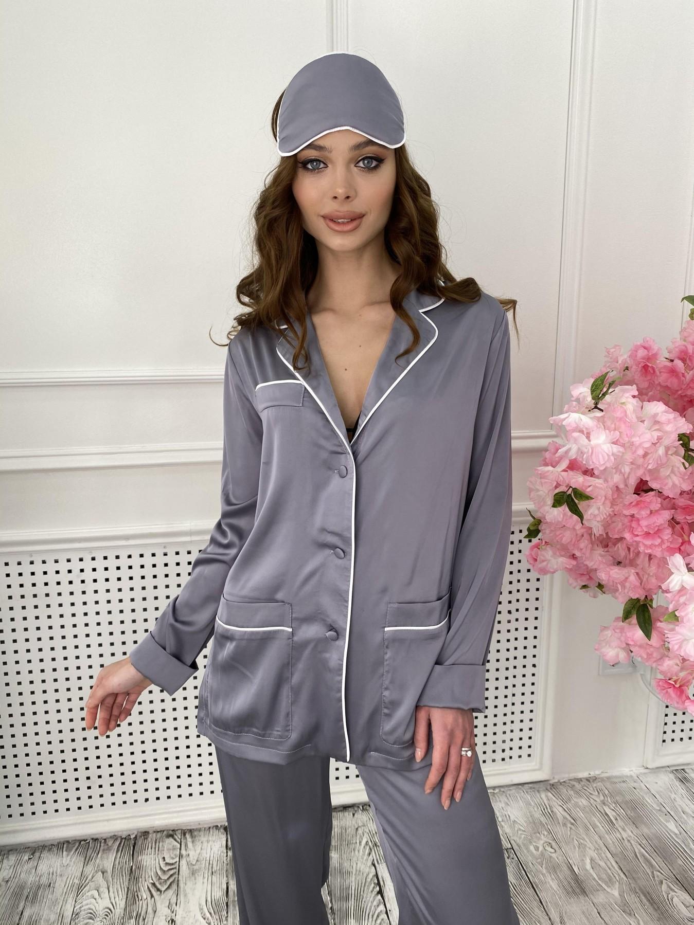 Шайн костюм из шелка  10778 АРТ. 47218 Цвет: темно серый - фото 5, интернет магазин tm-modus.ru