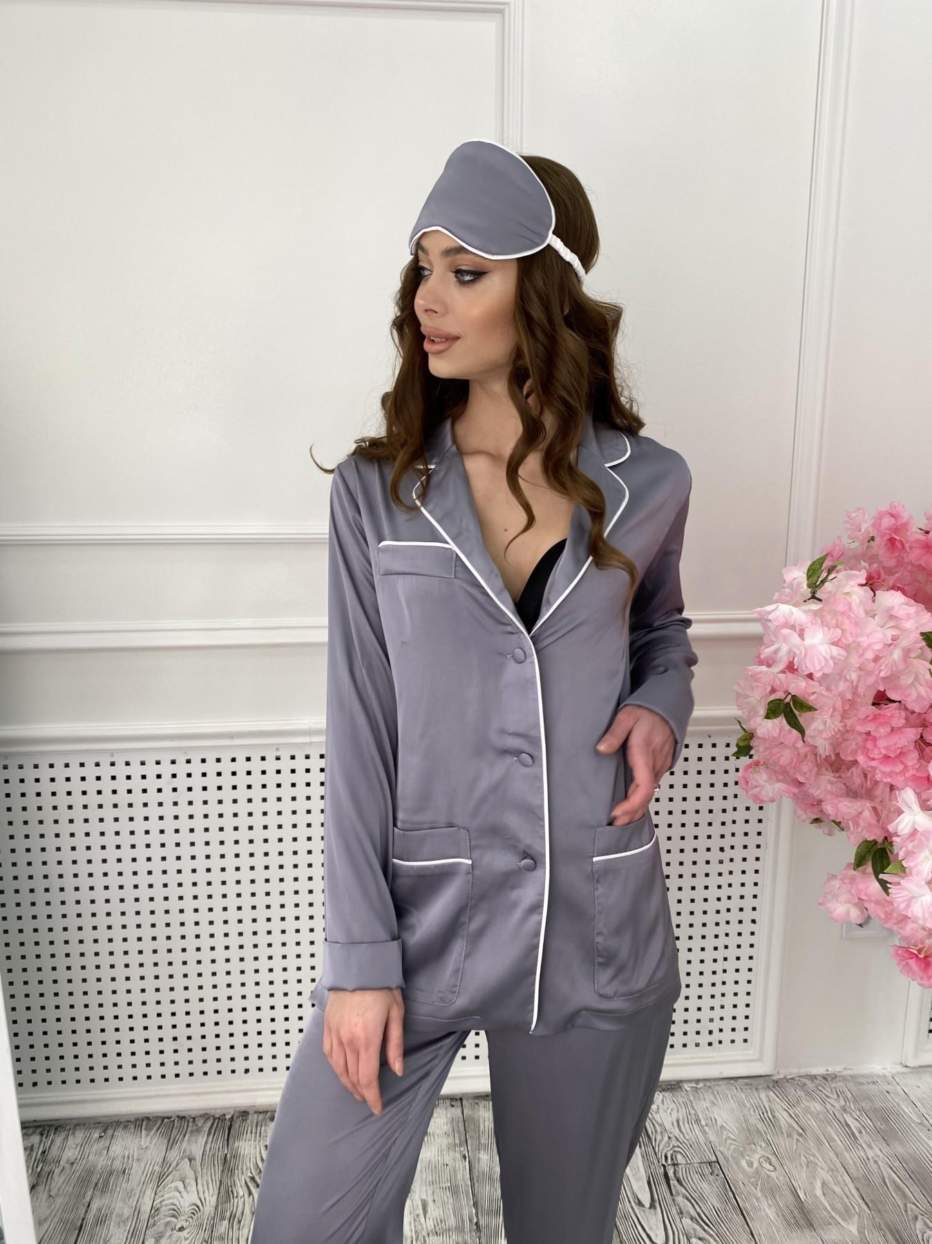 Шайн костюм из шелка  10778 АРТ. 47218 Цвет: темно серый - фото 6, интернет магазин tm-modus.ru