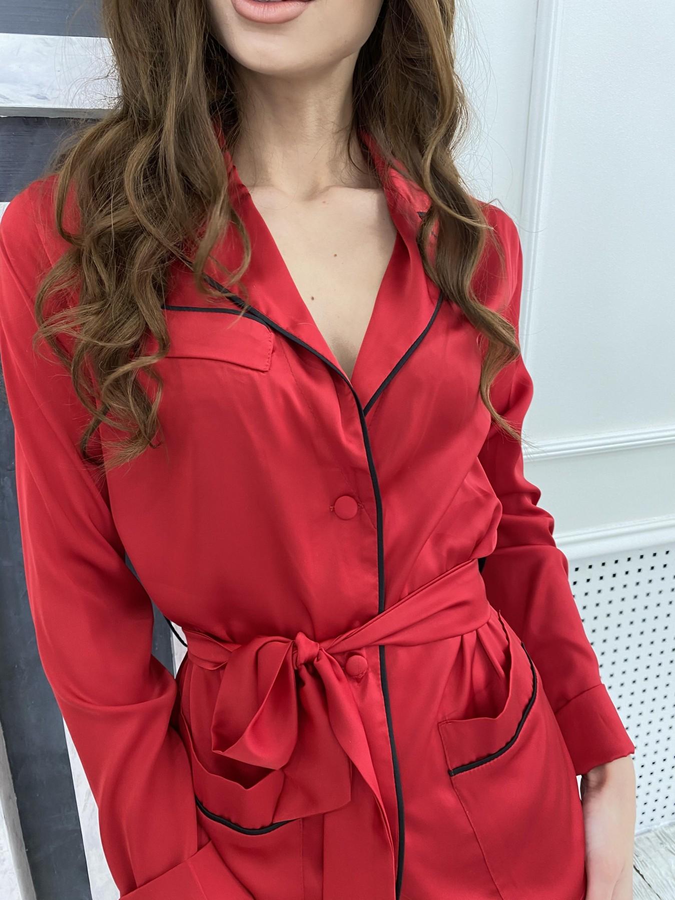 Шайн костюм из шелка  10778 АРТ. 47215 Цвет: Красный - фото 4, интернет магазин tm-modus.ru