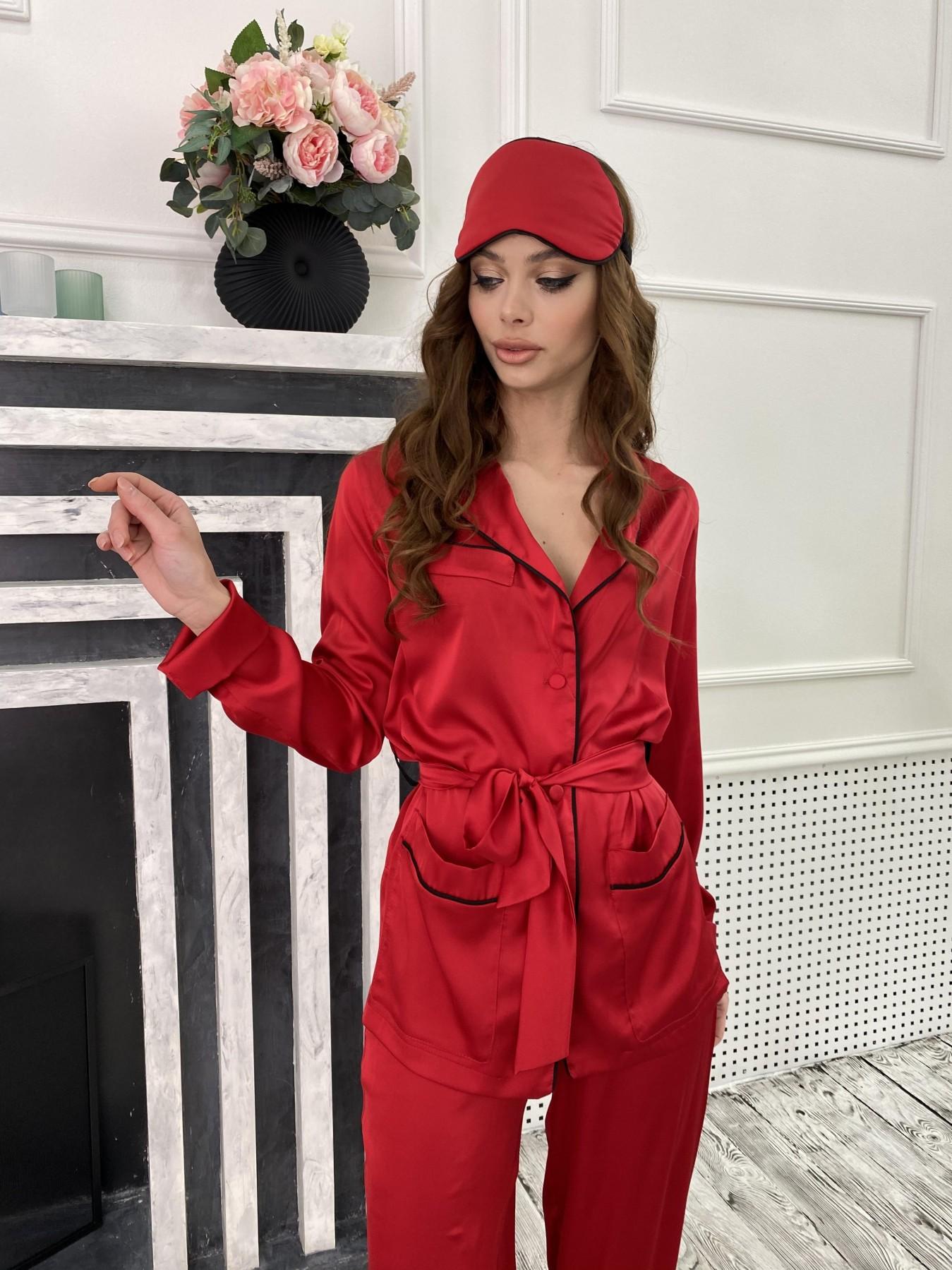 Шайн костюм из шелка  10778 АРТ. 47215 Цвет: Красный - фото 5, интернет магазин tm-modus.ru