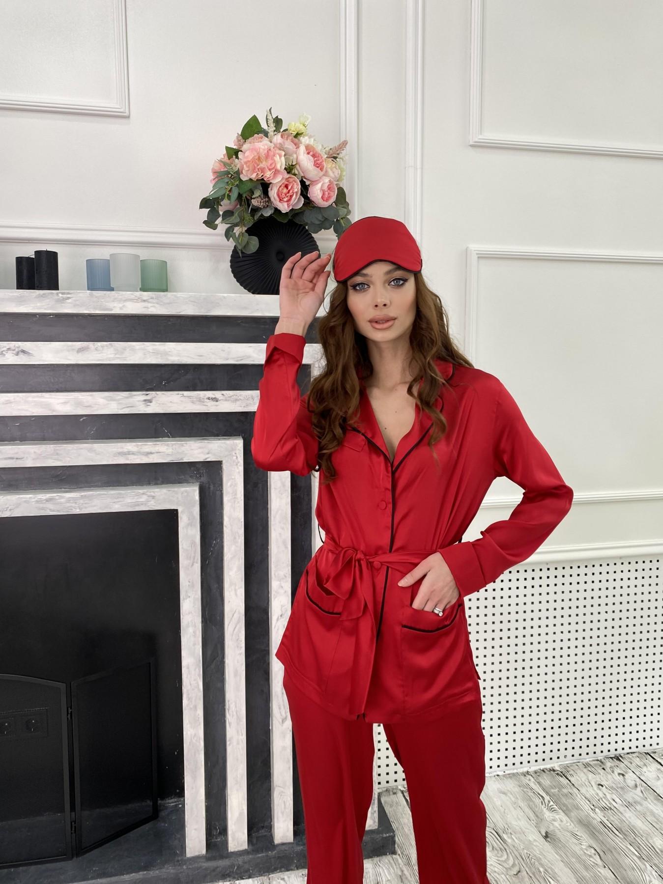 Шайн костюм из шелка  10778 АРТ. 47215 Цвет: Красный - фото 6, интернет магазин tm-modus.ru