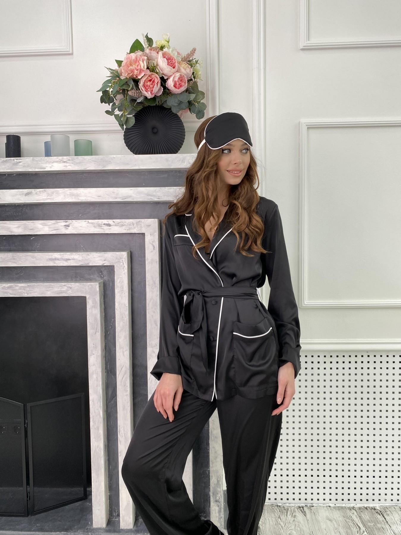 Шайн костюм из шелка  10778 АРТ. 47216 Цвет: Черный - фото 4, интернет магазин tm-modus.ru