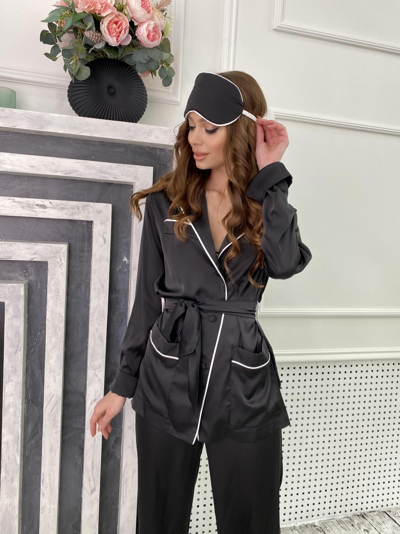Шайн костюм из шелка  10778 АРТ. 47216 Цвет: Черный - фото 5, интернет магазин tm-modus.ru