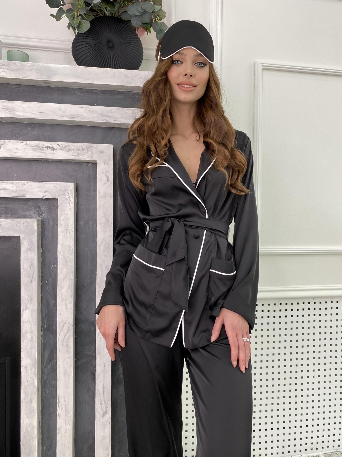 Шайн костюм из шелка  10778 АРТ. 47216 Цвет: Черный - фото 6, интернет магазин tm-modus.ru