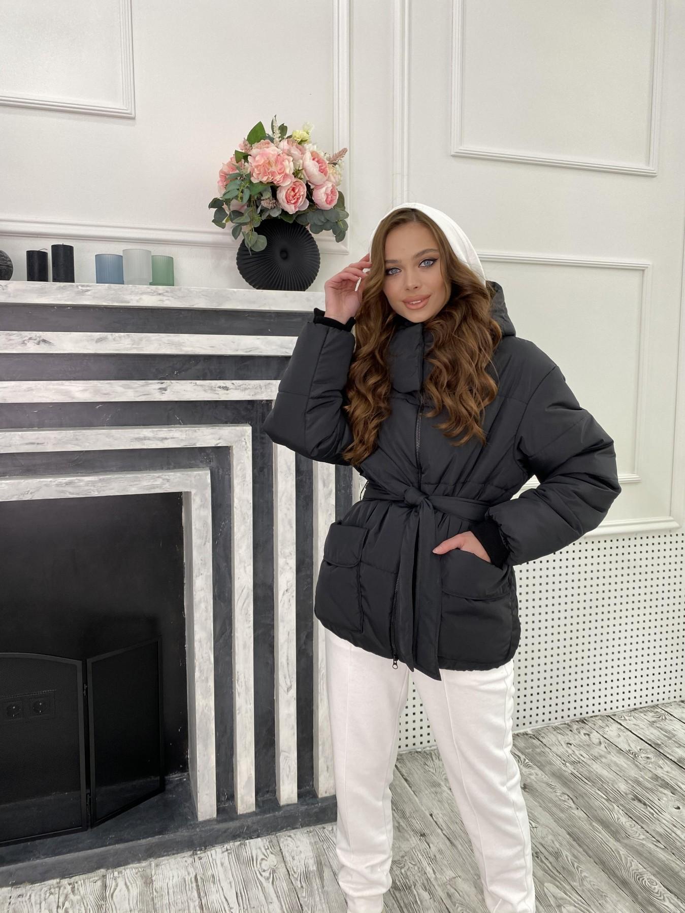 Док куртка из  плащевки Ammy 10822 АРТ. 47299 Цвет: Черный - фото 1, интернет магазин tm-modus.ru
