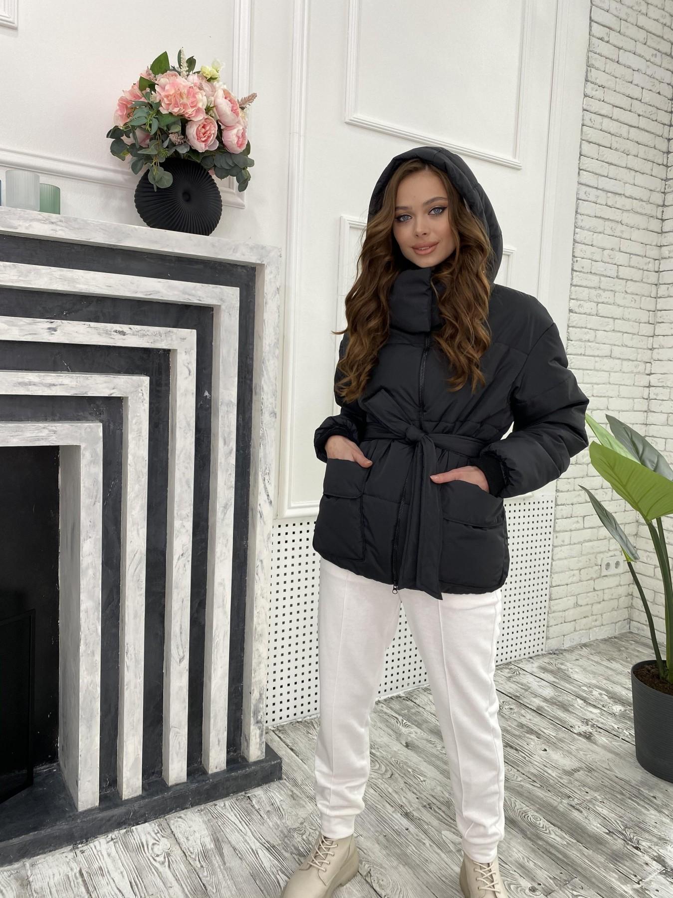 Док куртка из  плащевки Ammy 10822 АРТ. 47299 Цвет: Черный - фото 3, интернет магазин tm-modus.ru
