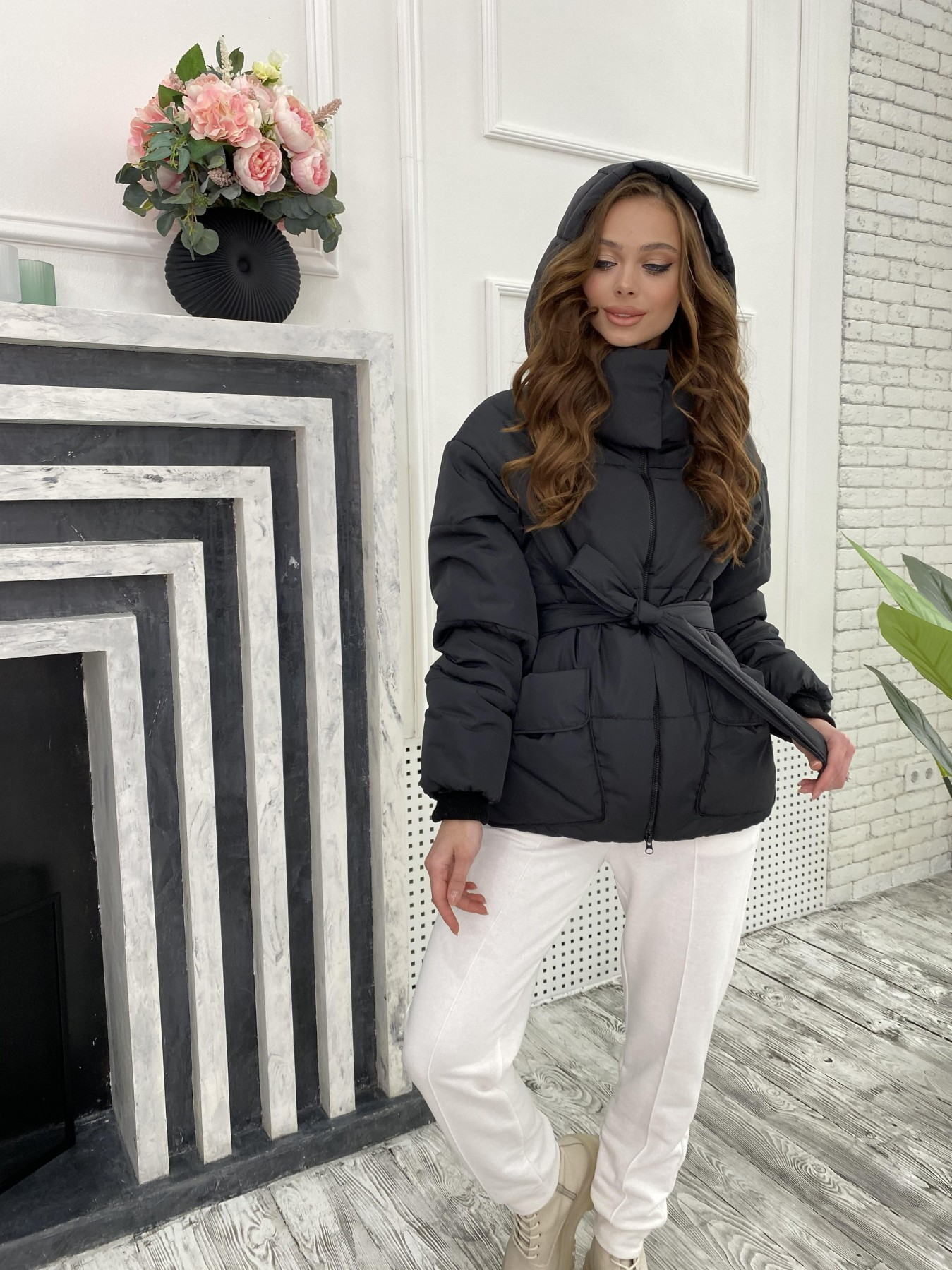 Док куртка из  плащевки Ammy 10822 АРТ. 47299 Цвет: Черный - фото 4, интернет магазин tm-modus.ru