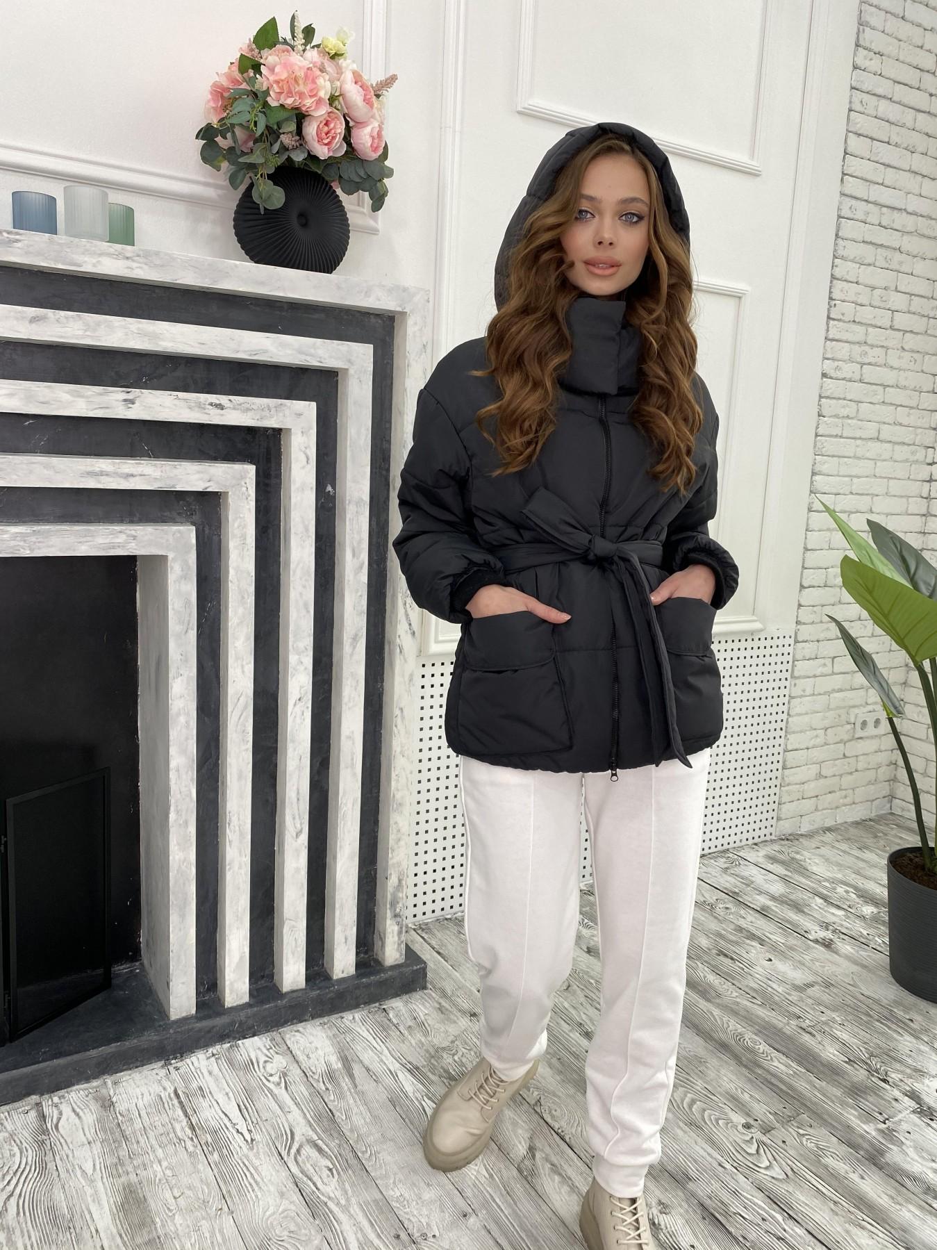 Док куртка из  плащевки Ammy 10822 АРТ. 47299 Цвет: Черный - фото 5, интернет магазин tm-modus.ru
