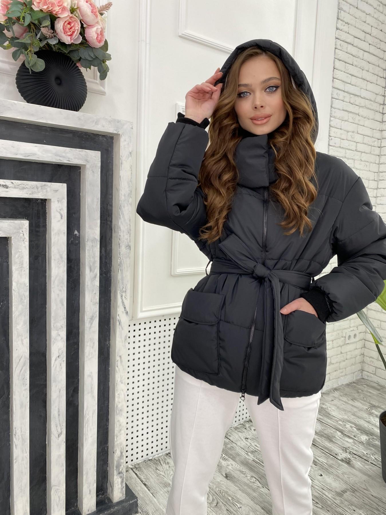 Док куртка из  плащевки Ammy 10822 АРТ. 47299 Цвет: Черный - фото 6, интернет магазин tm-modus.ru