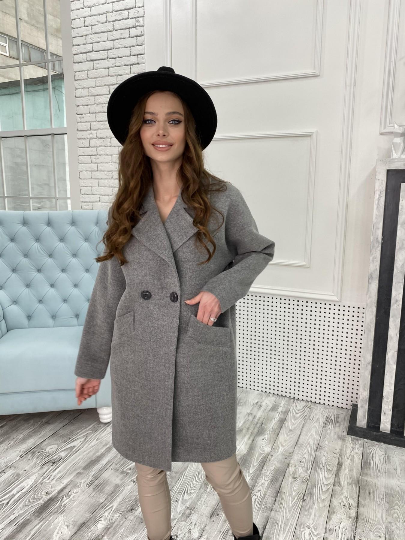 Сенсей пальто из кашемира меланж  10745 АРТ. 47226 Цвет: Серый 1 - фото 1, интернет магазин tm-modus.ru