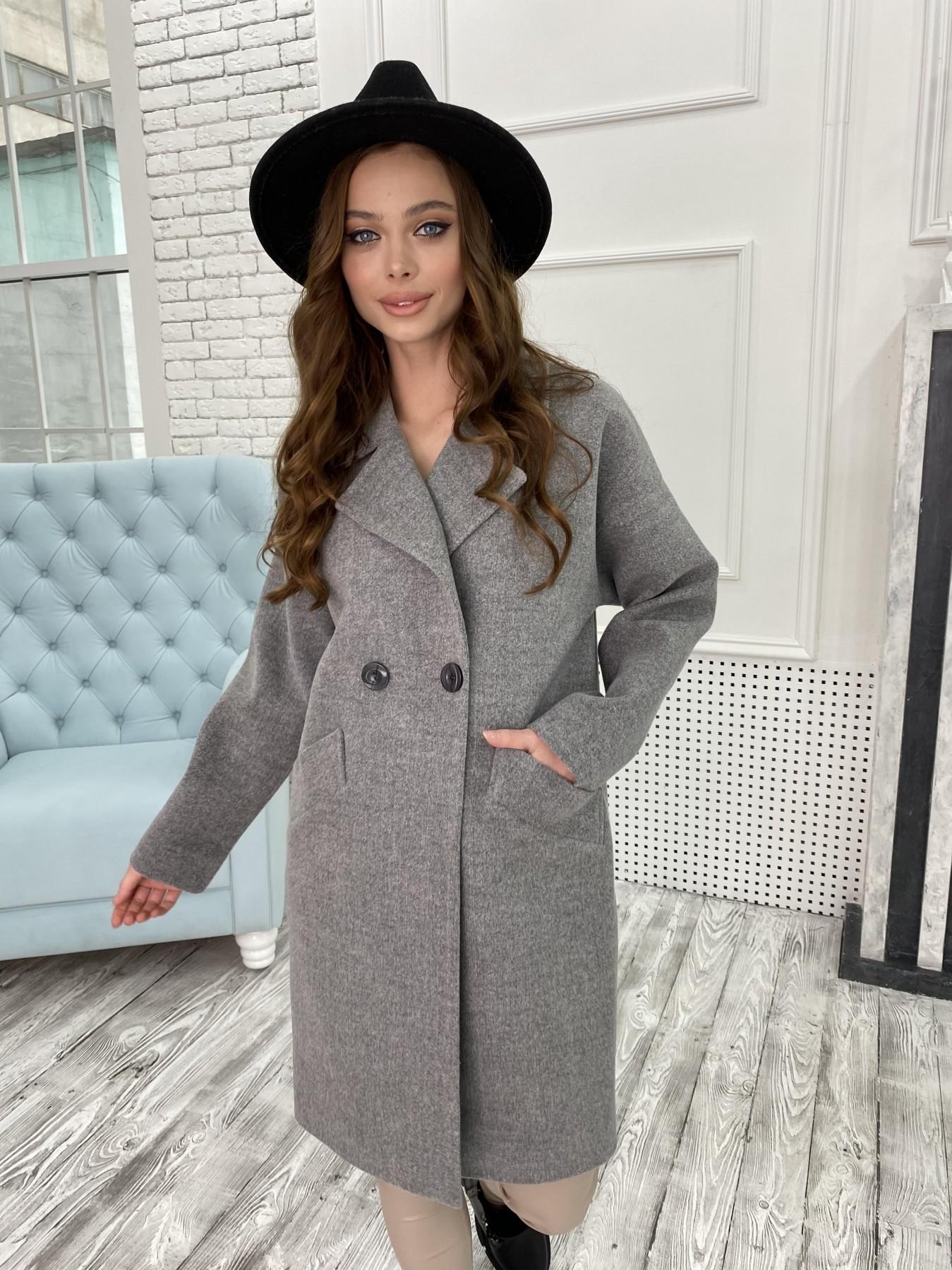 Пальто женское демисезонное купить в интернете Сенсей пальто из кашемира меланж  10745