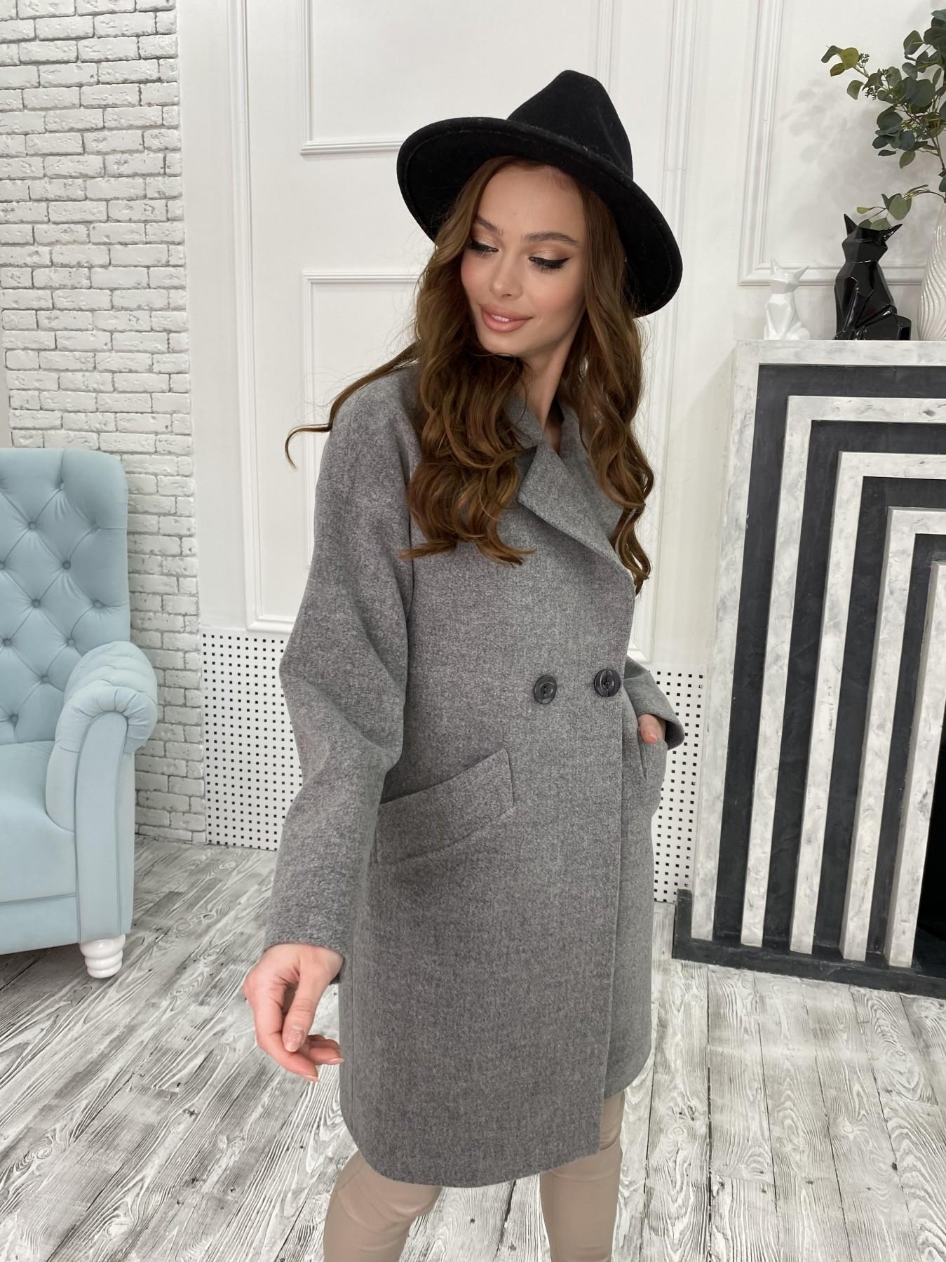 Сенсей пальто из кашемира меланж  10745 АРТ. 47226 Цвет: Серый 1 - фото 3, интернет магазин tm-modus.ru