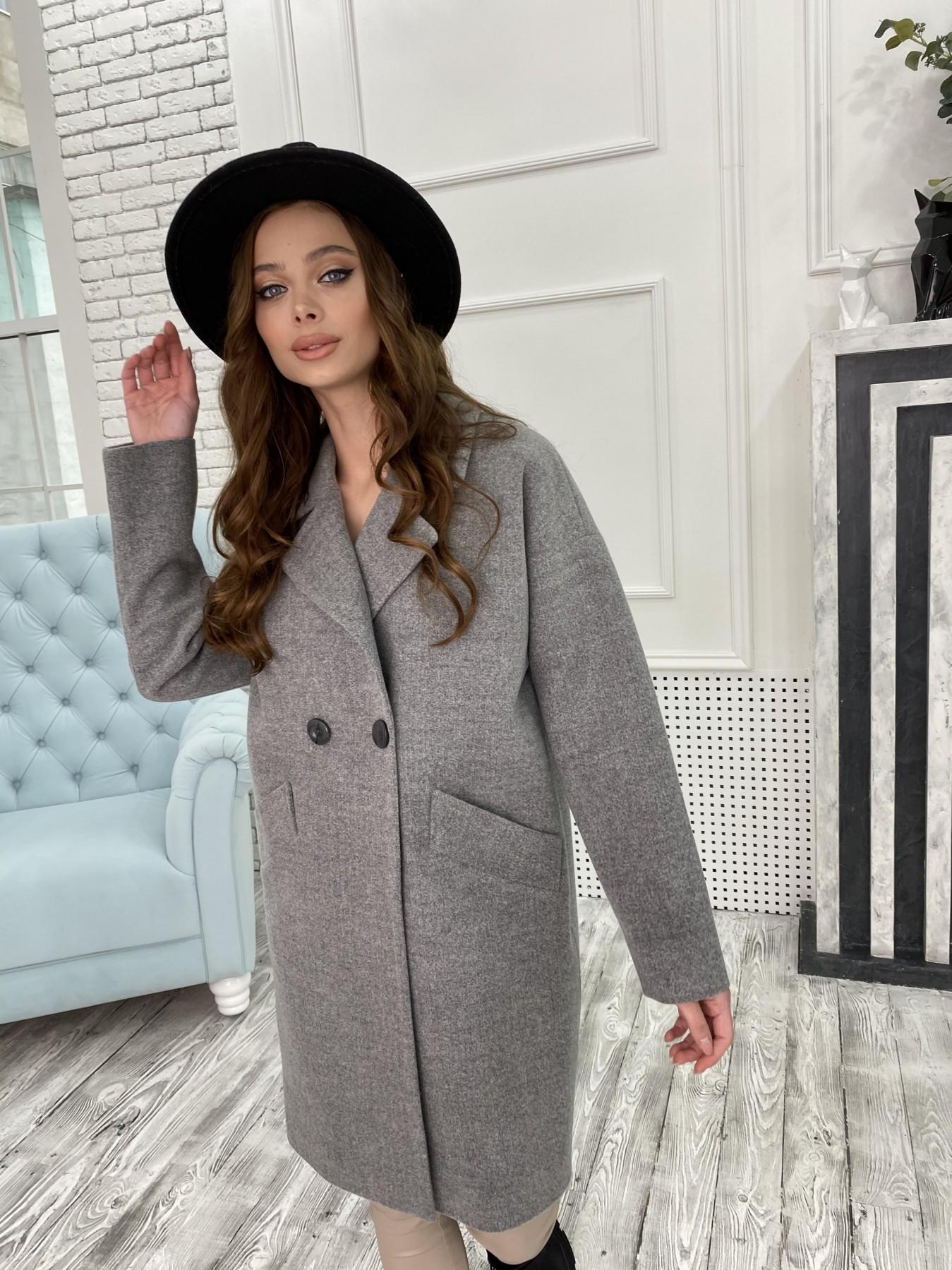 Сенсей пальто из кашемира меланж  10745 АРТ. 47226 Цвет: Серый 1 - фото 4, интернет магазин tm-modus.ru