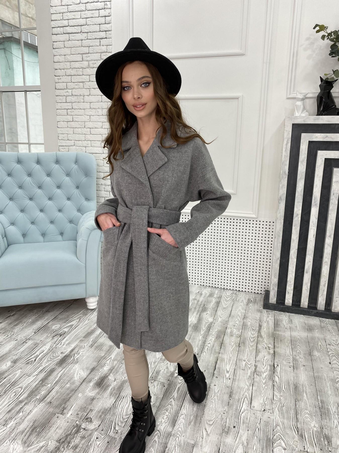 Сенсей пальто из кашемира меланж  10745 АРТ. 47226 Цвет: Серый 1 - фото 5, интернет магазин tm-modus.ru