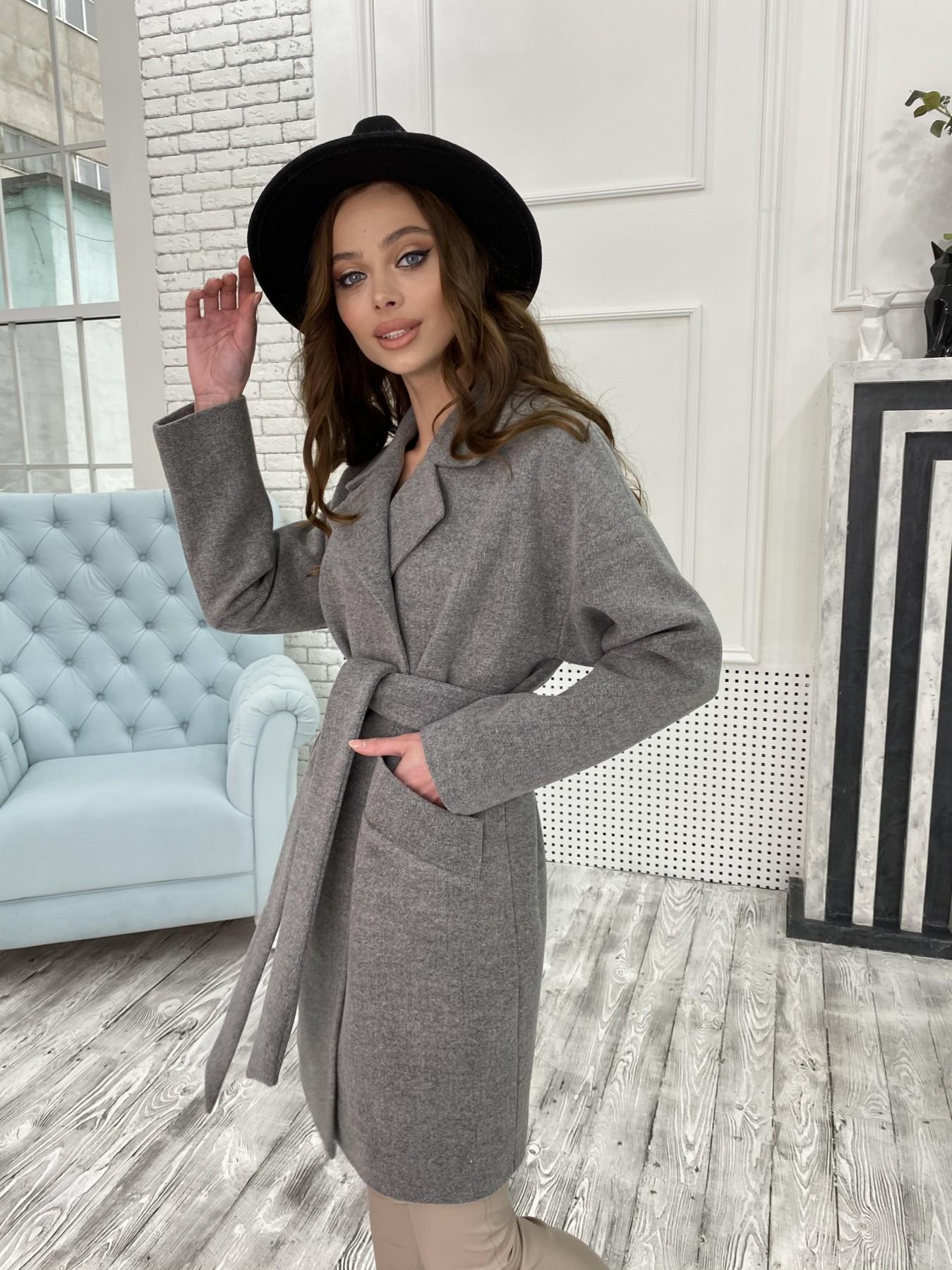 Сенсей пальто из кашемира меланж  10745 АРТ. 47226 Цвет: Серый 1 - фото 6, интернет магазин tm-modus.ru