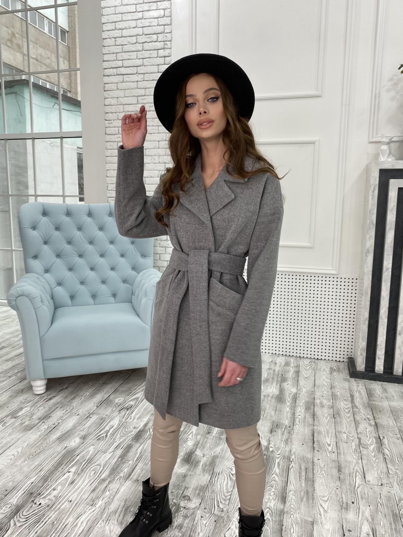 Сенсей пальто из кашемира меланж  10745 АРТ. 47226 Цвет: Серый 1 - фото 7, интернет магазин tm-modus.ru