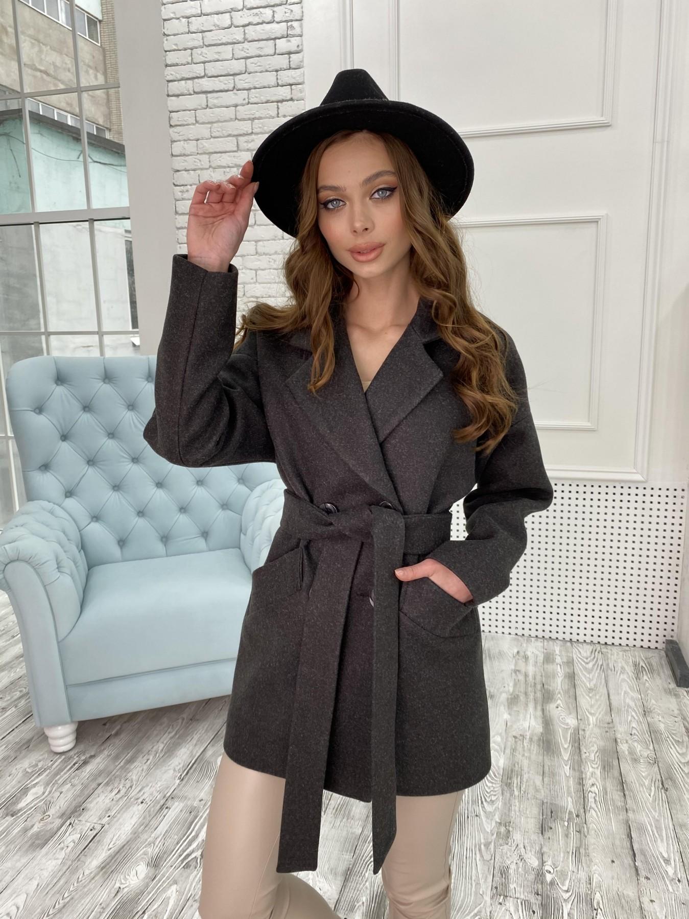 Магазины женского демисезонного пальто от Modus Бонд пальто  кашемировое меланж на трикотаже  10644
