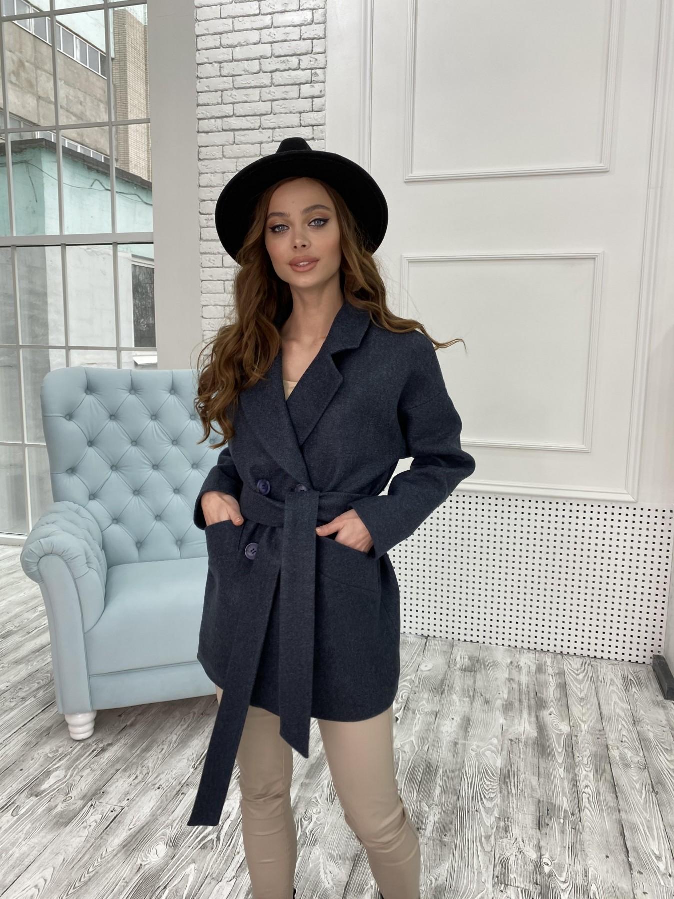 Бонд пальто  кашемировое меланж на трикотаже  10644 АРТ. 47186 Цвет: Т.синий 48 - фото 4, интернет магазин tm-modus.ru