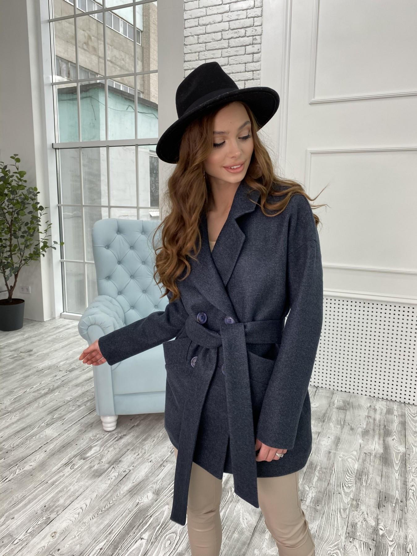 Бонд пальто  кашемировое меланж на трикотаже  10644 АРТ. 47186 Цвет: Т.синий 48 - фото 5, интернет магазин tm-modus.ru