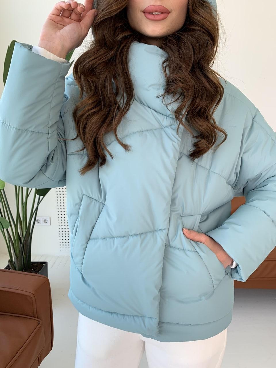 Уно short куртка из плащевой ткани Ammy 10927 АРТ. 47401 Цвет: Олива - фото 1, интернет магазин tm-modus.ru