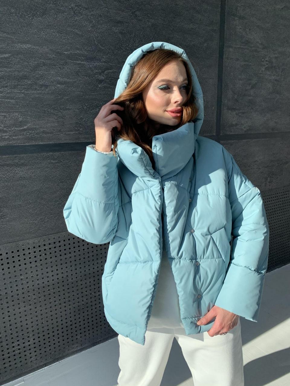 Уно short куртка из плащевой ткани Ammy 10927 АРТ. 47401 Цвет: Олива - фото 4, интернет магазин tm-modus.ru