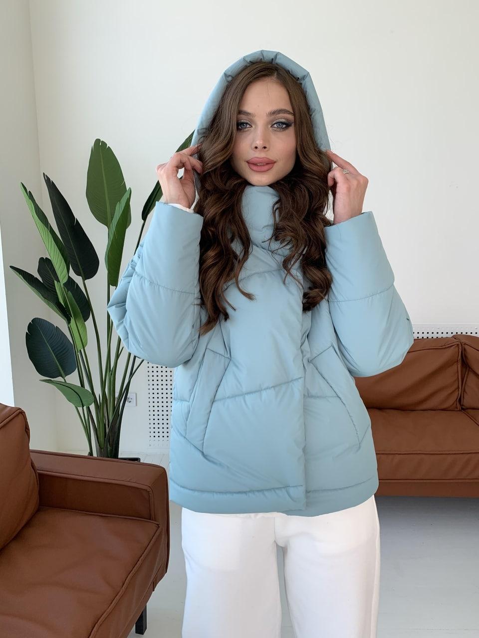 куртки оптом от производителя  Уно short куртка из плащевой ткани Ammy 10927