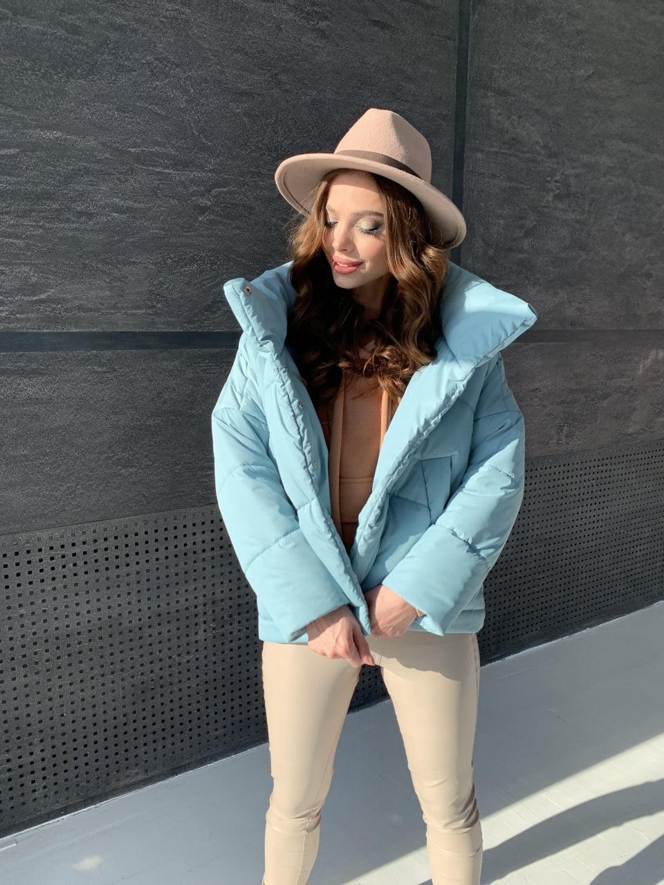 Уно short куртка из плащевой ткани Ammy 10927 АРТ. 47401 Цвет: Олива - фото 7, интернет магазин tm-modus.ru