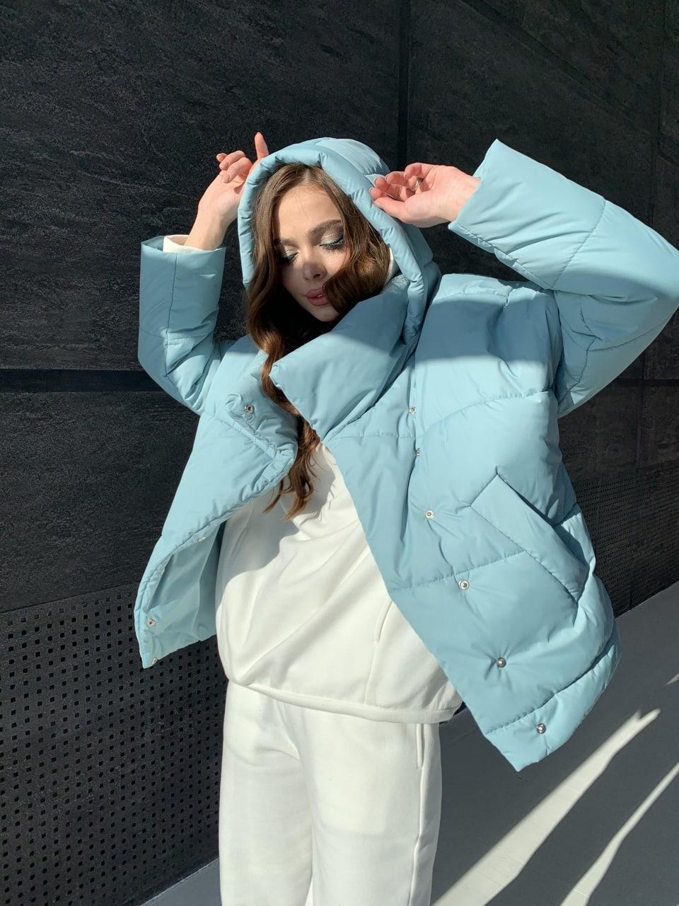Уно short куртка из плащевой ткани Ammy 10927 АРТ. 47401 Цвет: Олива - фото 9, интернет магазин tm-modus.ru