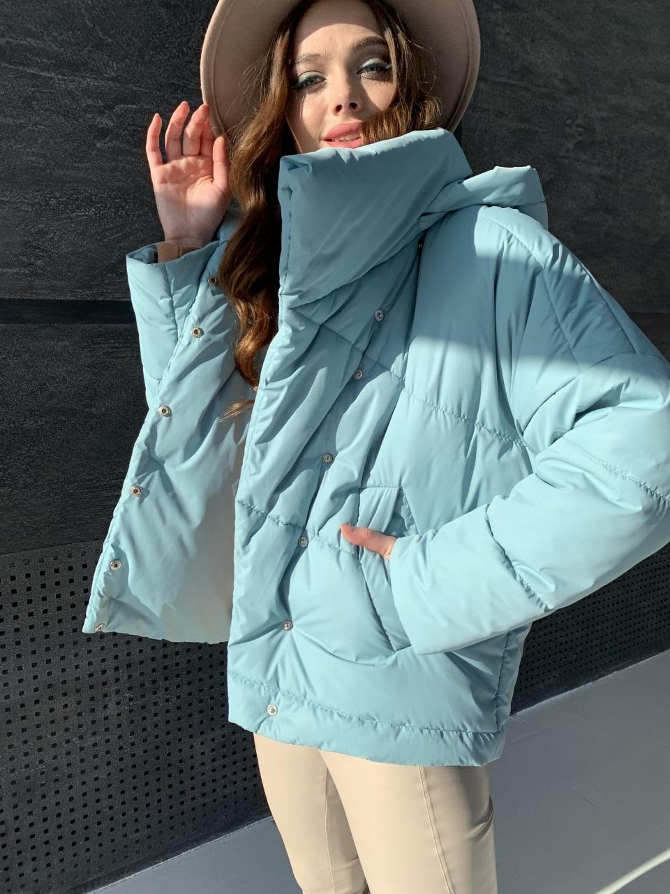 Уно short куртка из плащевой ткани Ammy 10927 АРТ. 47401 Цвет: Олива - фото 10, интернет магазин tm-modus.ru