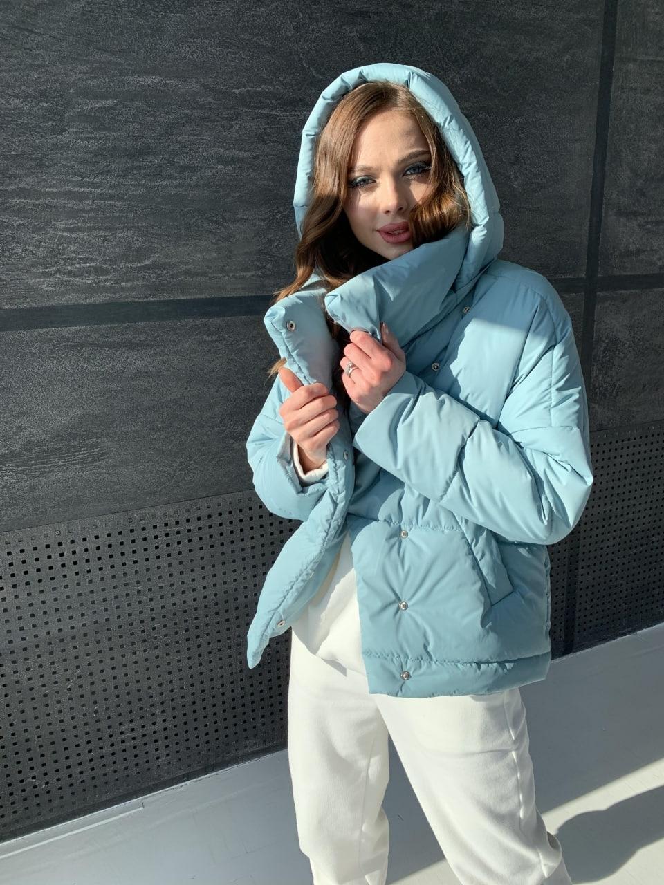 Уно short куртка из плащевой ткани Ammy 10927 АРТ. 47401 Цвет: Олива - фото 11, интернет магазин tm-modus.ru