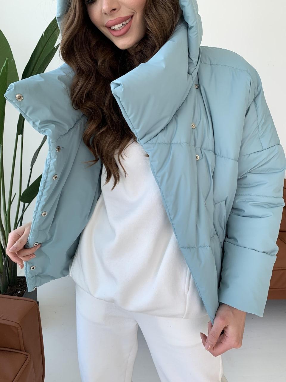 Уно short куртка из плащевой ткани Ammy 10927 АРТ. 47401 Цвет: Олива - фото 12, интернет магазин tm-modus.ru