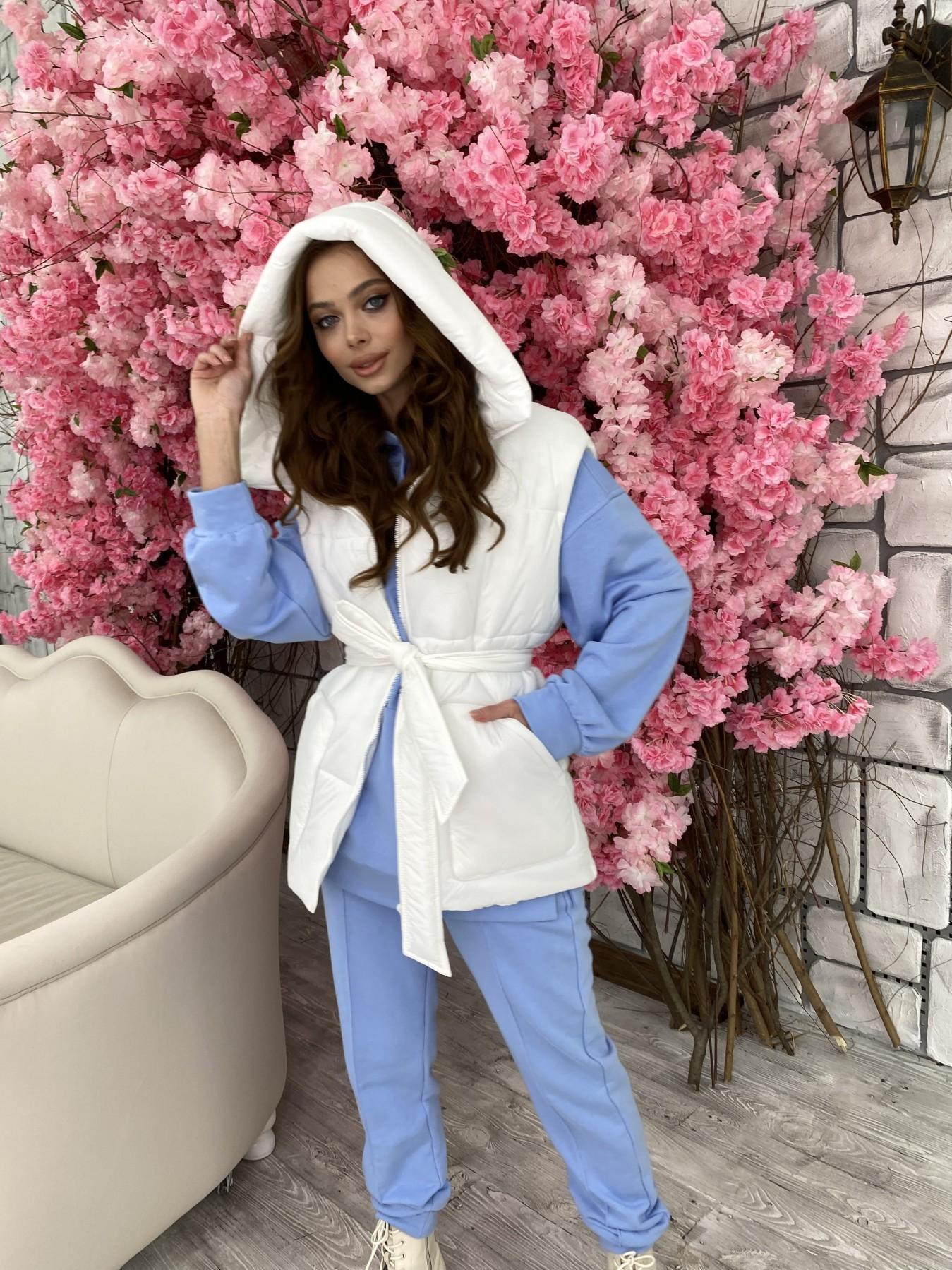 Личчи жилет из плащевой ткани  Ammy 10682 АРТ. 47290 Цвет: Белый - фото 6, интернет магазин tm-modus.ru