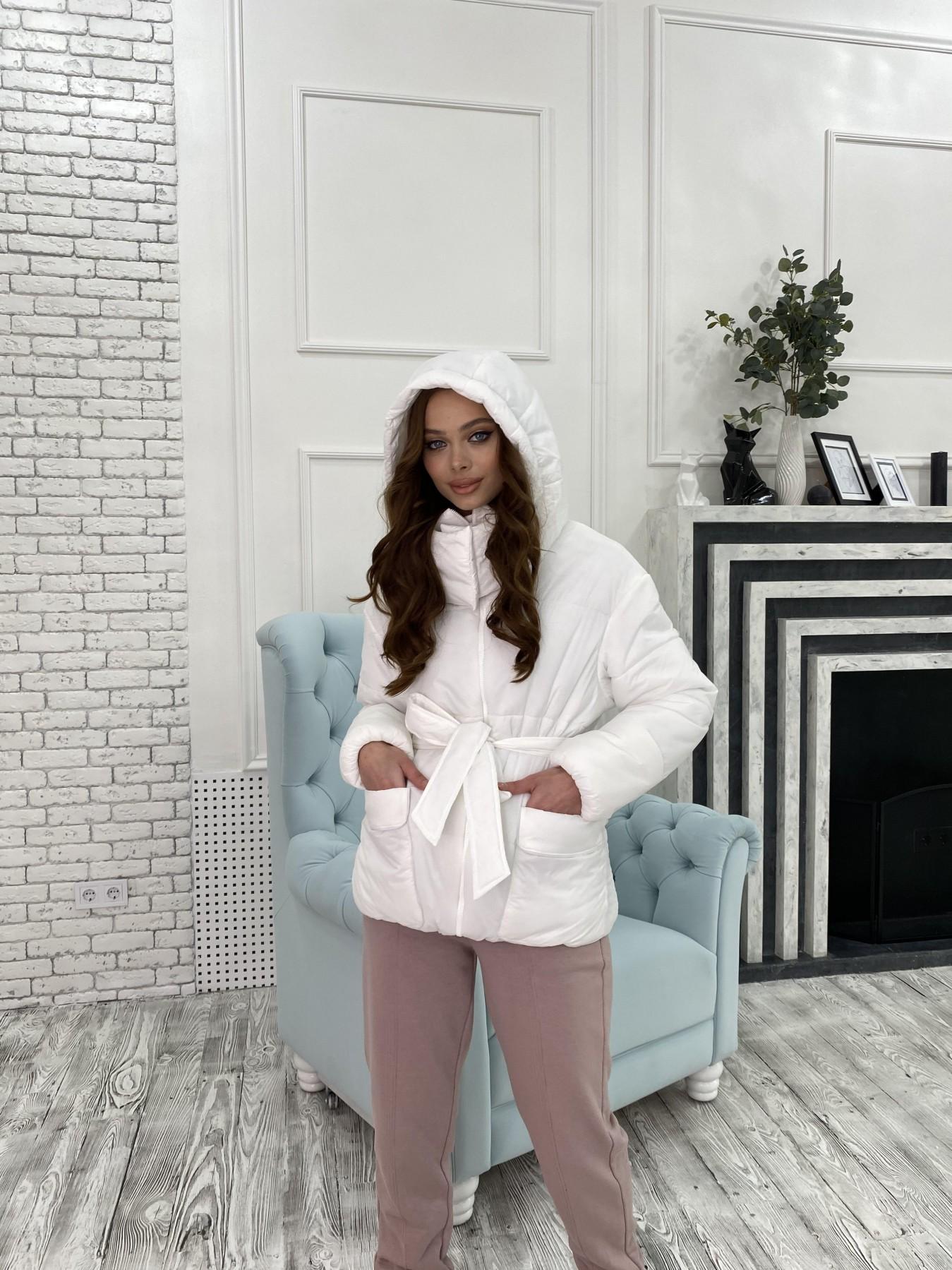 Док куртка из  плащевки Ammy 10822 АРТ. 47311 Цвет: Белый - фото 2, интернет магазин tm-modus.ru
