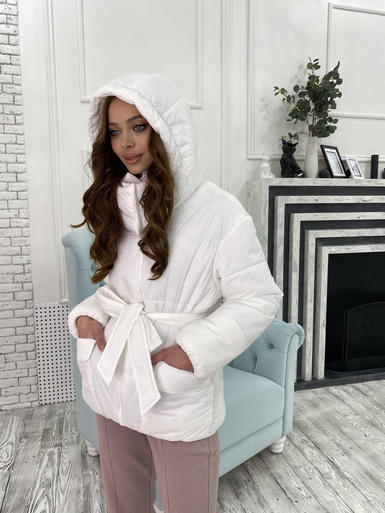 Док куртка из  плащевки Ammy 10822 АРТ. 47311 Цвет: Белый - фото 3, интернет магазин tm-modus.ru