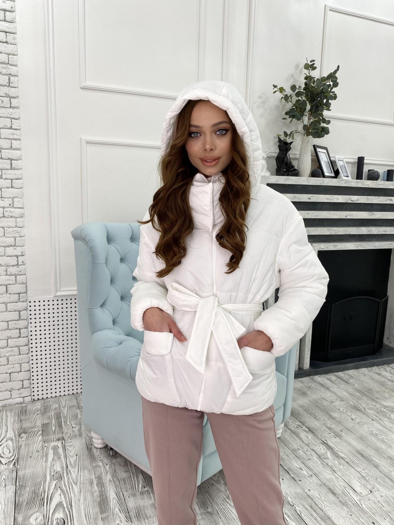 Док куртка из  плащевки Ammy 10822 АРТ. 47311 Цвет: Белый - фото 4, интернет магазин tm-modus.ru
