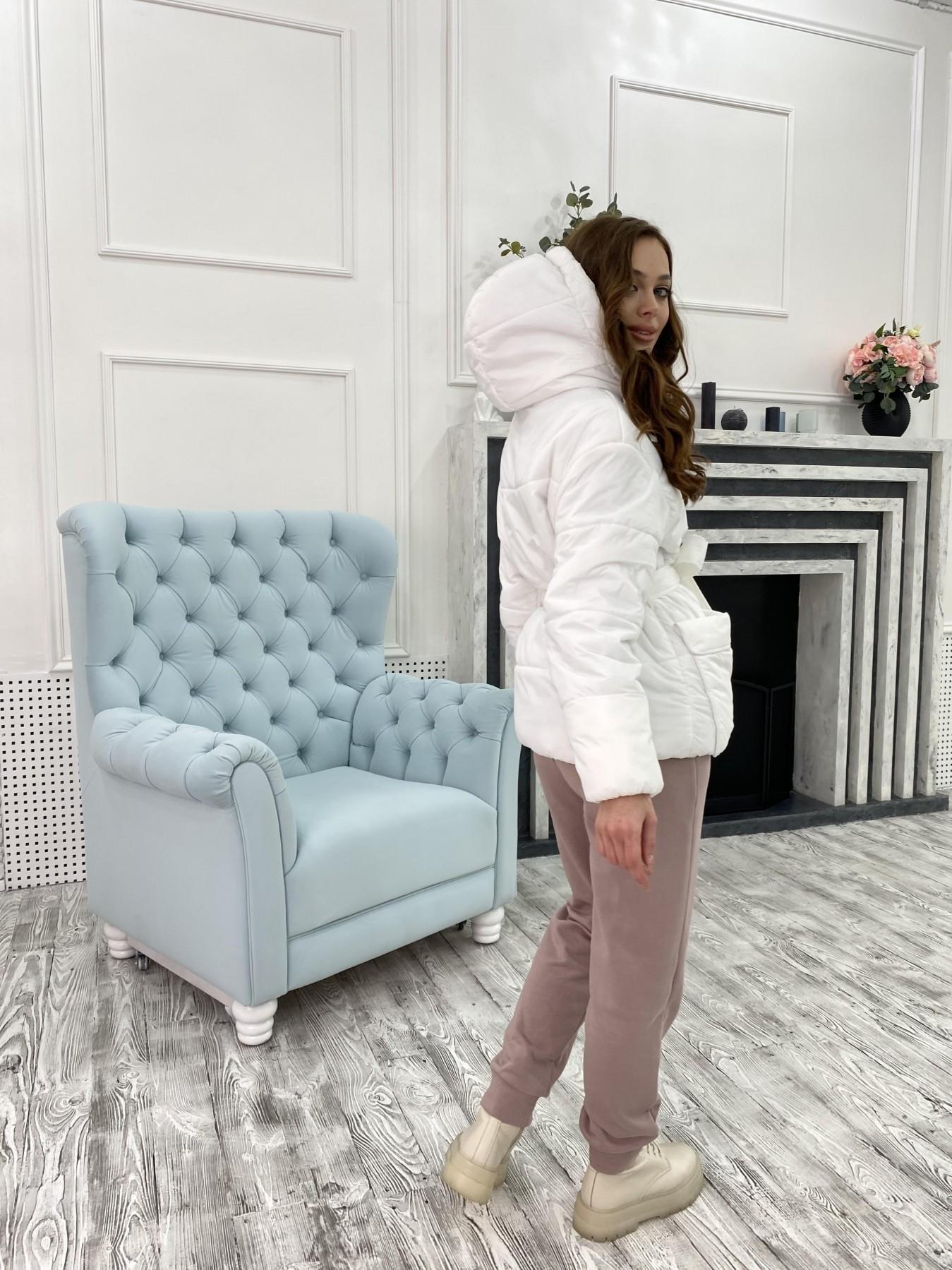 Док куртка из  плащевки Ammy 10822 АРТ. 47311 Цвет: Белый - фото 8, интернет магазин tm-modus.ru