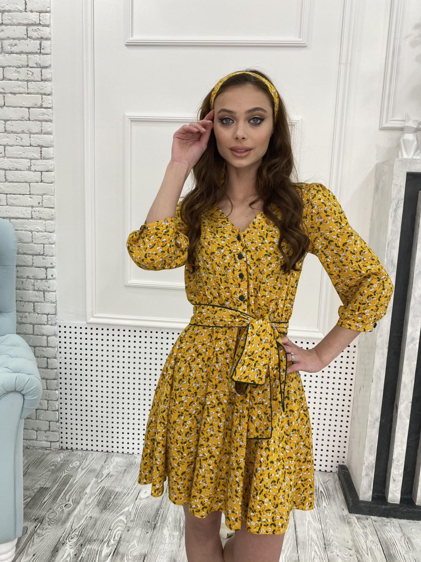 Купить платье в Харькове Джейн костюмка штапель принт платье 10881