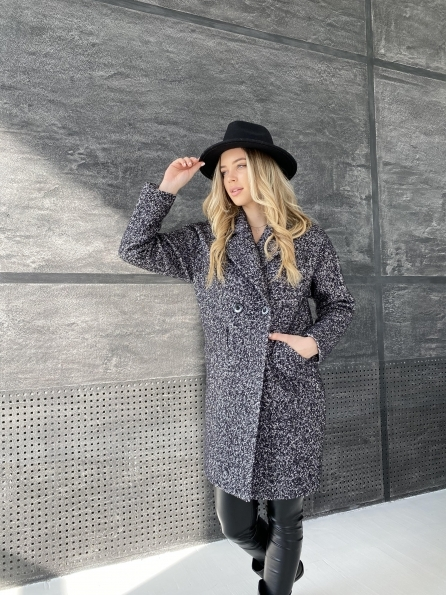 Купить Сенсей шерсть букле пальтовая ткань пальто 10780 оптом и в розницу
