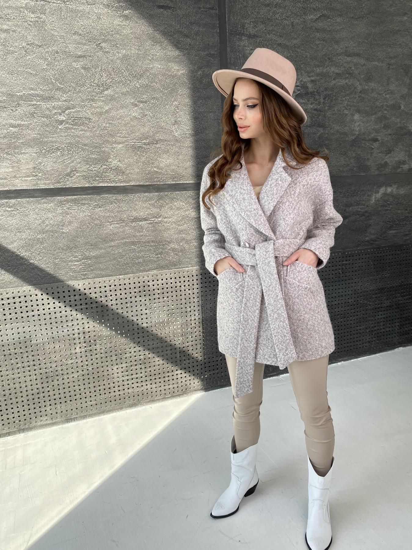 Бонд пальто из шерсти букле  10770 АРТ. 47196 Цвет: Серо-бежевый - фото 2, интернет магазин tm-modus.ru