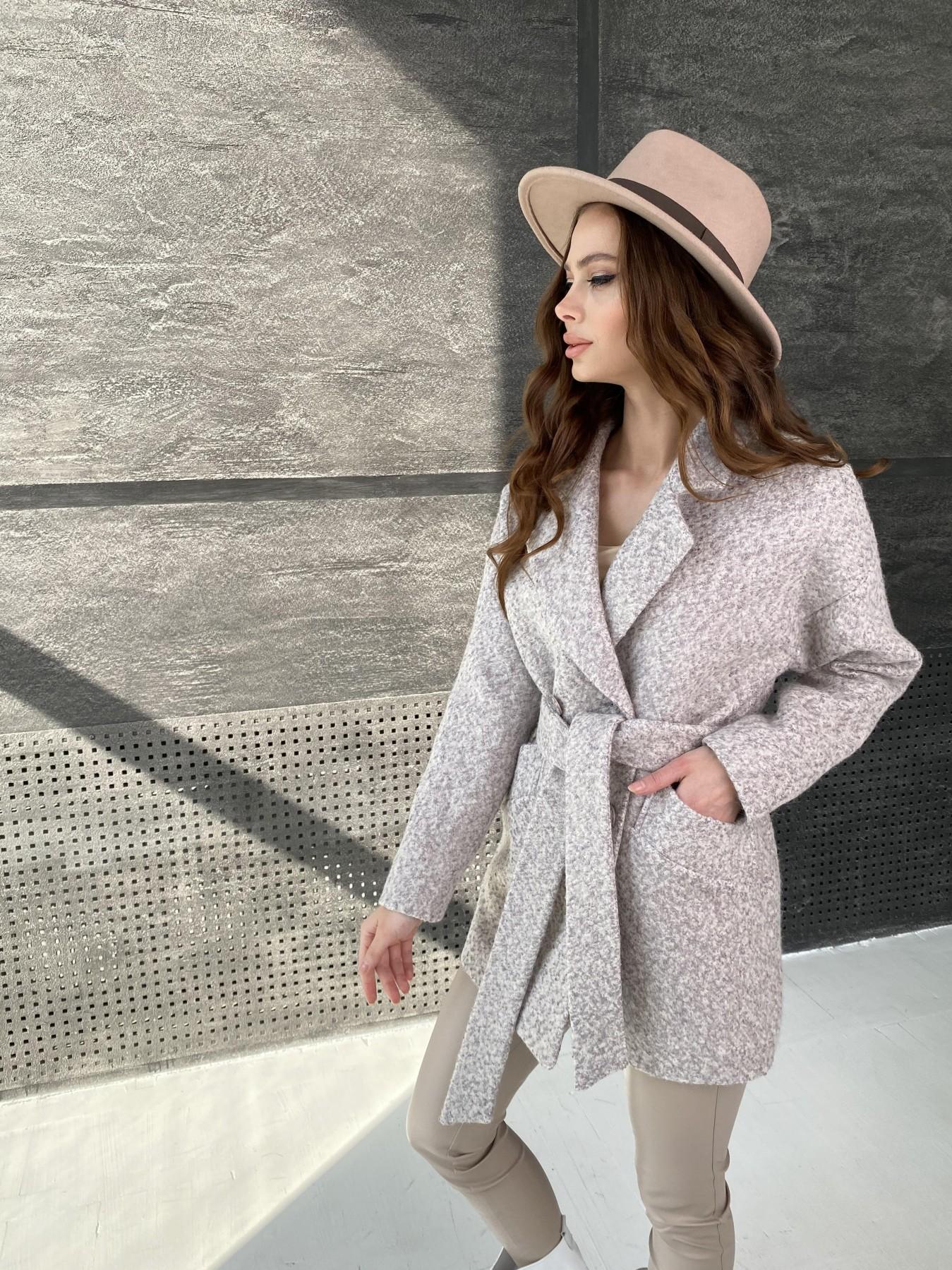 Бонд пальто из шерсти букле  10770 АРТ. 47196 Цвет: Серо-бежевый - фото 4, интернет магазин tm-modus.ru