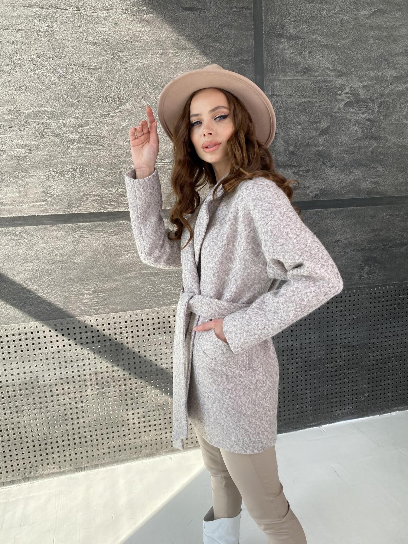 Бонд пальто из шерсти букле  10770 АРТ. 47196 Цвет: Серо-бежевый - фото 5, интернет магазин tm-modus.ru