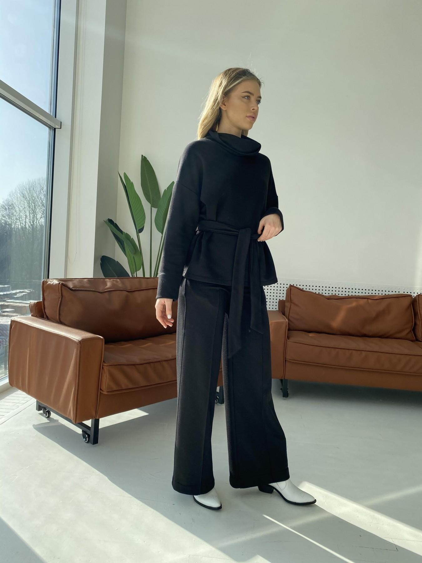 Джаст костюм Oversize  3х нитка 10564 АРТ. 47243 Цвет: Черный - фото 3, интернет магазин tm-modus.ru