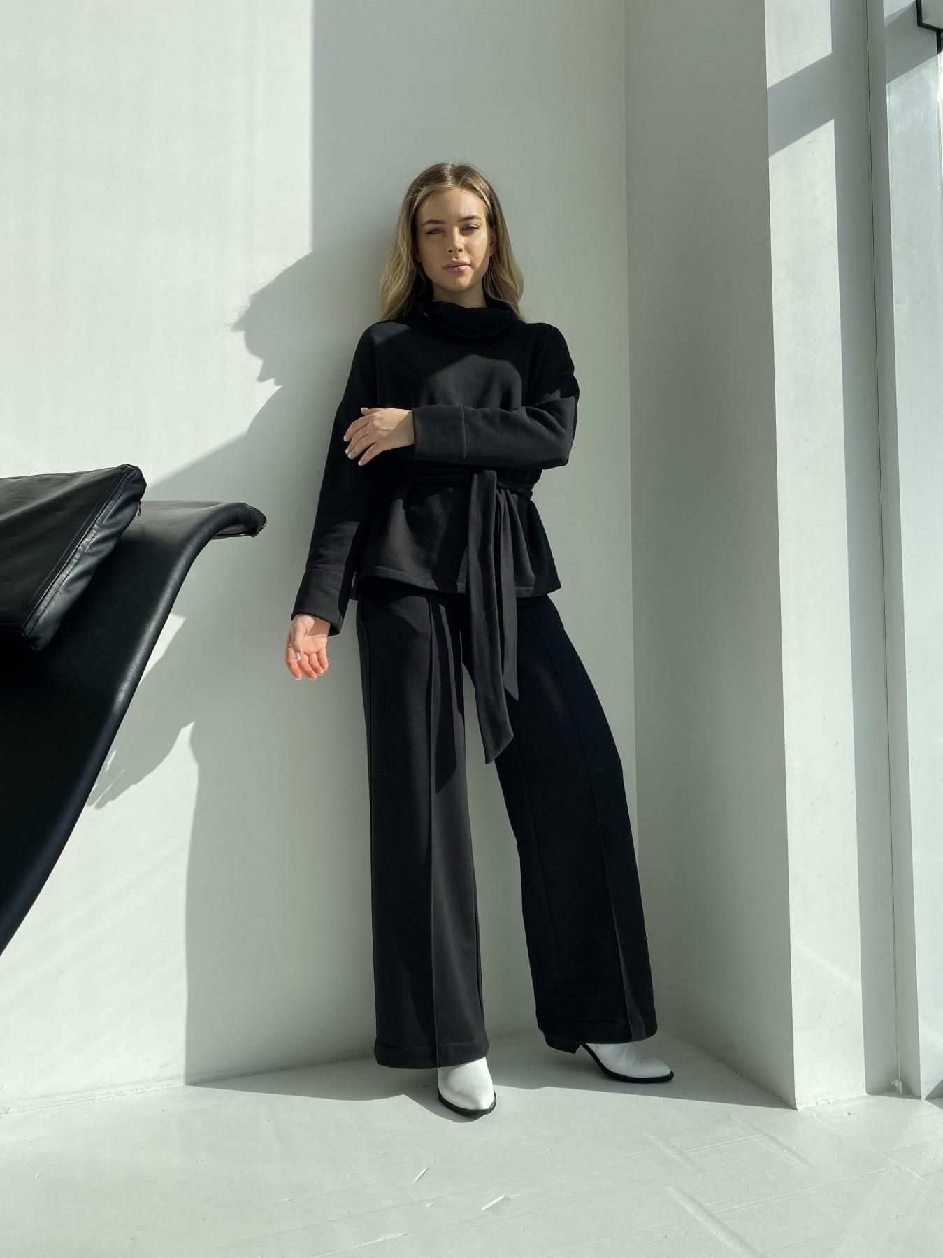 Джаст костюм Oversize  3х нитка 10564 АРТ. 47243 Цвет: Черный - фото 4, интернет магазин tm-modus.ru