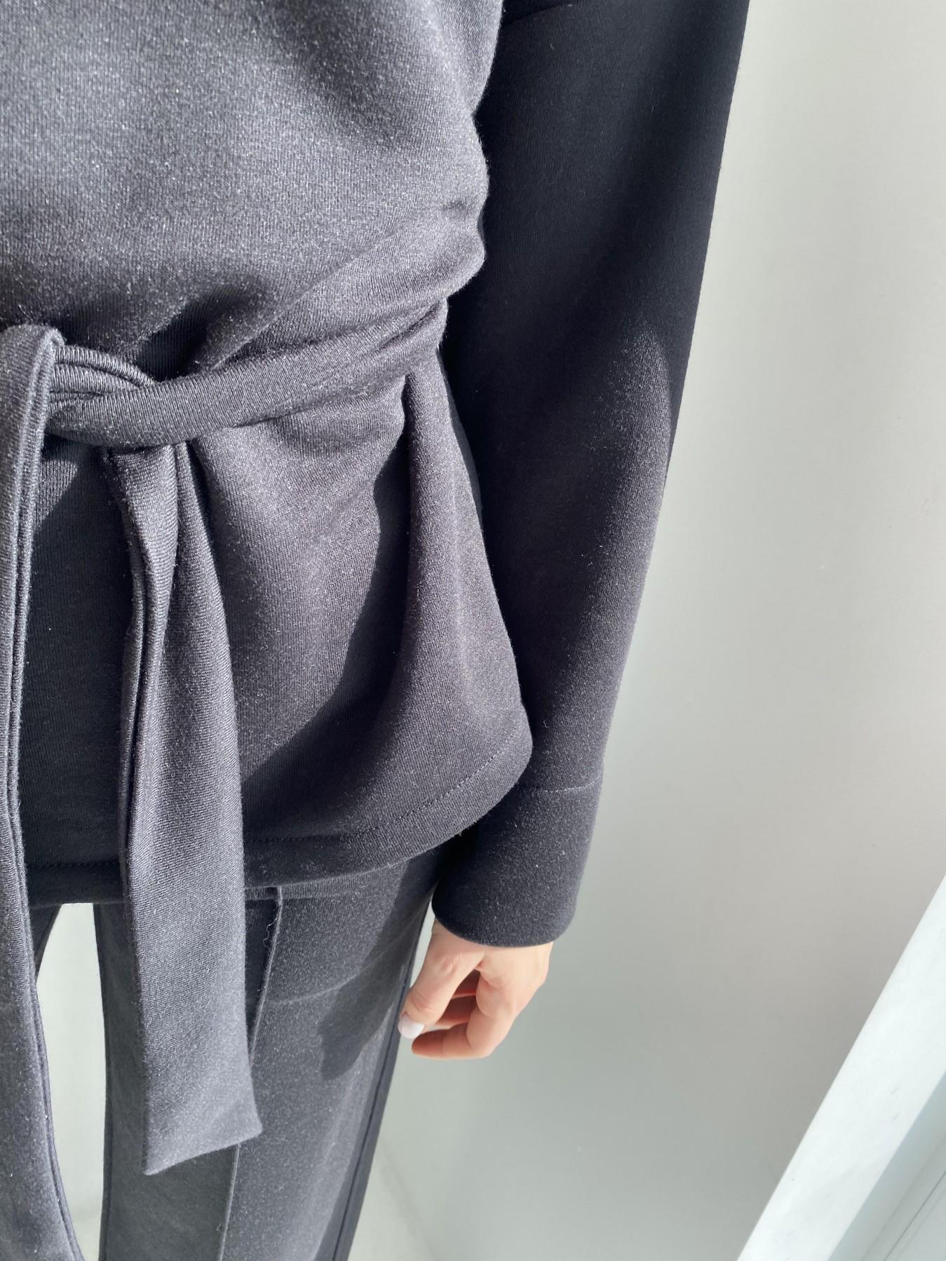 Джаст костюм Oversize  3х нитка 10564 АРТ. 47243 Цвет: Черный - фото 5, интернет магазин tm-modus.ru