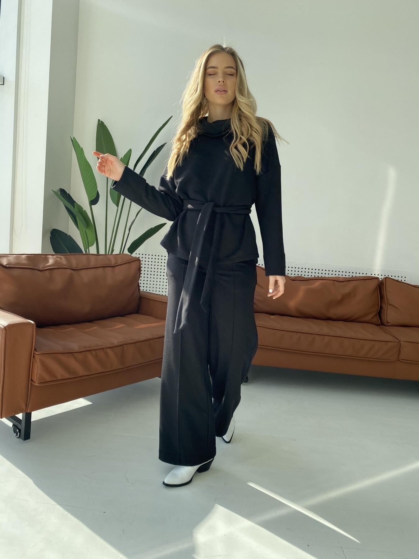 Джаст костюм Oversize  3х нитка 10564 АРТ. 47243 Цвет: Черный - фото 6, интернет магазин tm-modus.ru