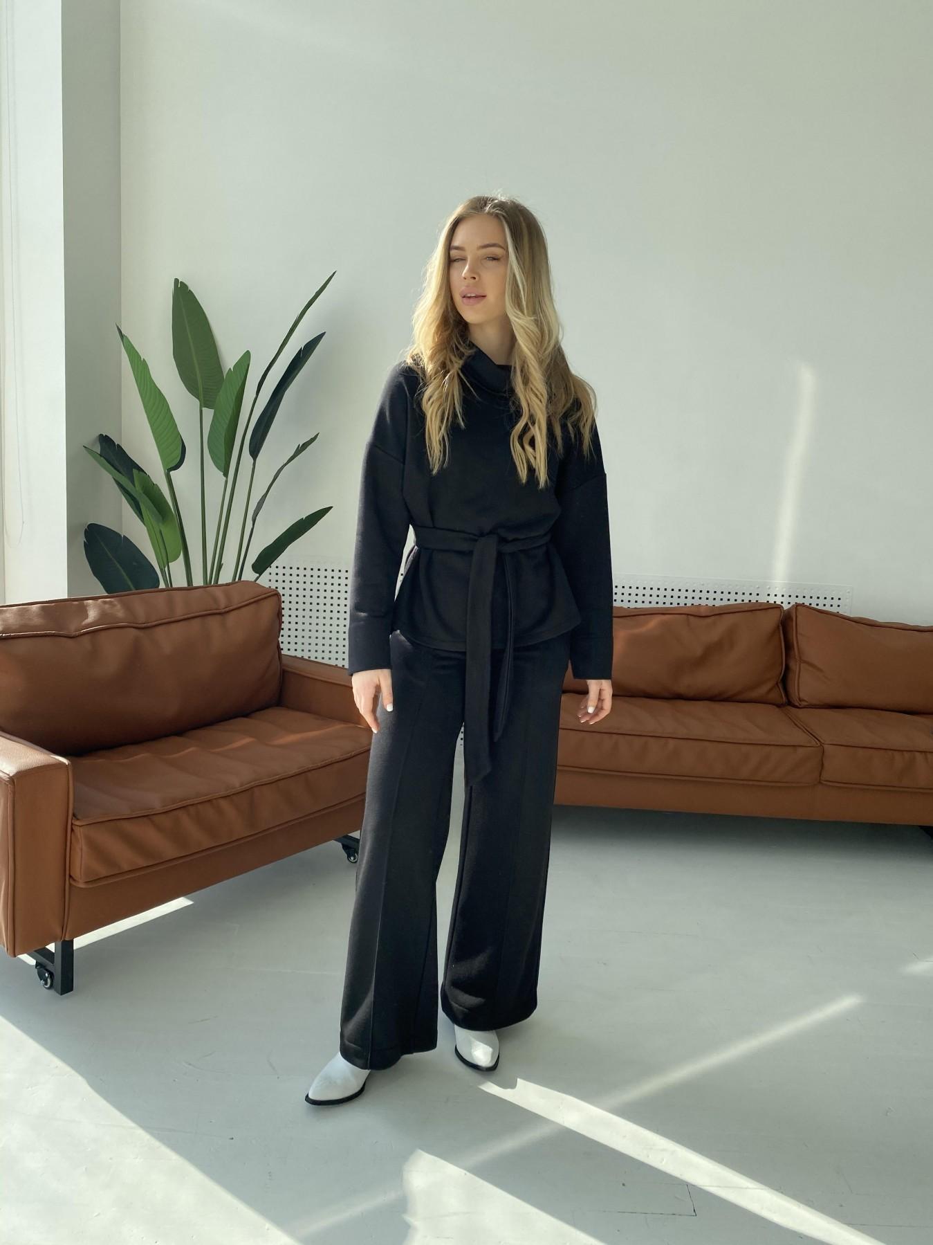 Джаст костюм Oversize  3х нитка 10564 АРТ. 47243 Цвет: Черный - фото 7, интернет магазин tm-modus.ru