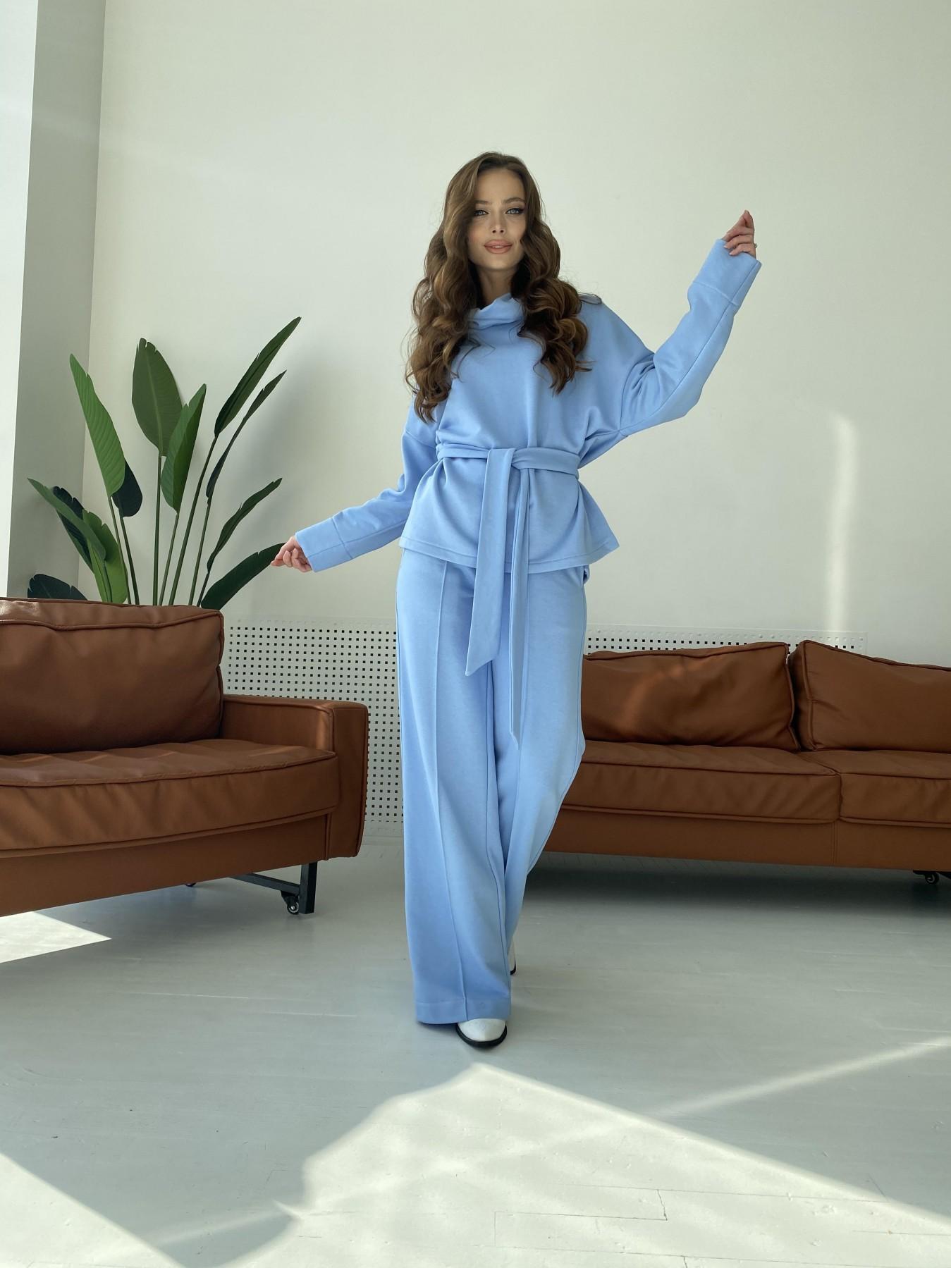 Джаст костюм Oversize  3х нитка 10564 АРТ. 47245 Цвет: Голубой - фото 2, интернет магазин tm-modus.ru