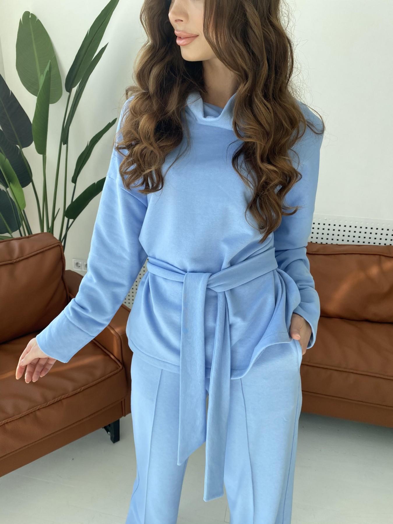 Джаст костюм Oversize  3х нитка 10564 АРТ. 47245 Цвет: Голубой - фото 3, интернет магазин tm-modus.ru