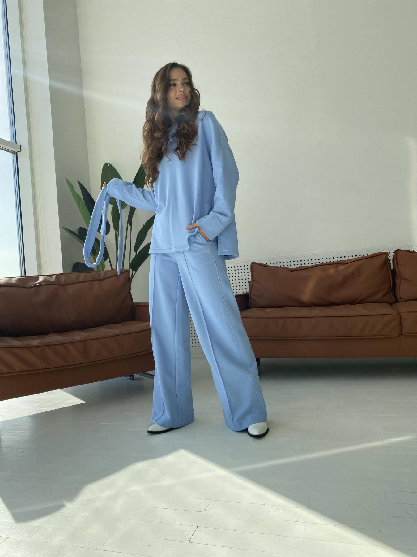 Джаст костюм Oversize  3х нитка 10564 АРТ. 47245 Цвет: Голубой - фото 6, интернет магазин tm-modus.ru